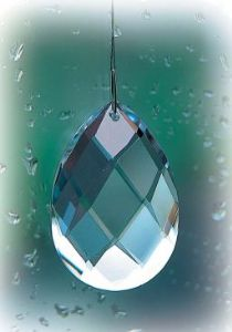 Crystal~Almond Crystal~Clear Swarovski Hanging Crystal~Rainbow Collection~By Folio Gothic Hippy